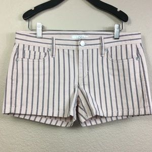 Loft Stripe Jean Short